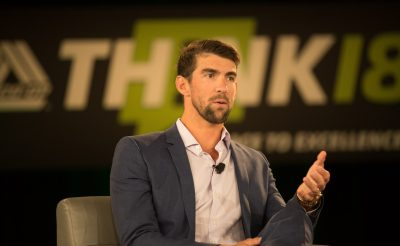 Michael Phelps at THINK 18